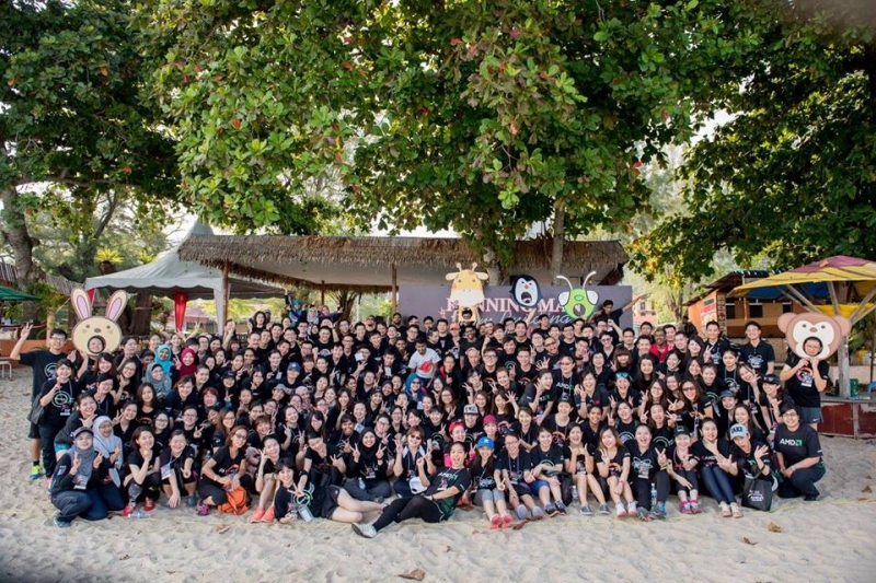 Batu Ferringhi Beach Team Building Group Photo