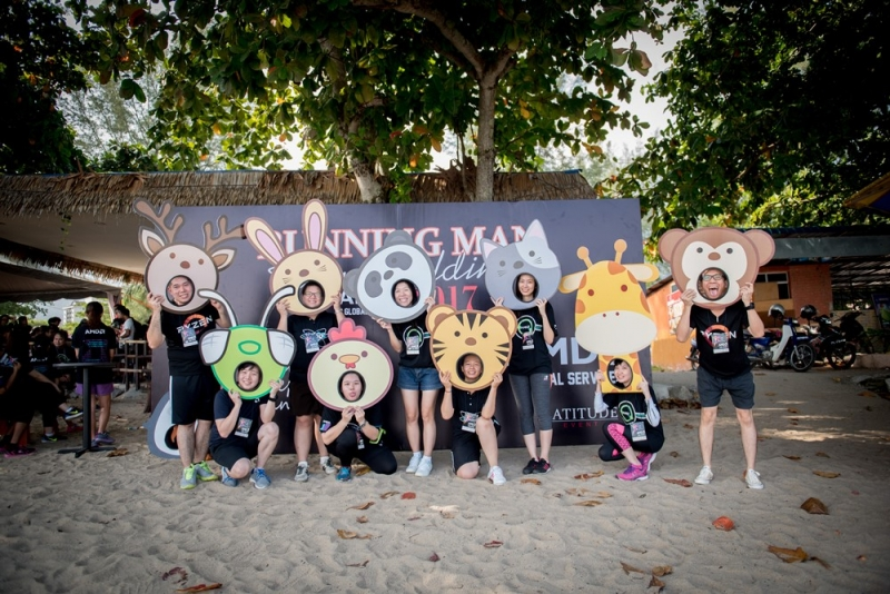 Batu Ferringhi Beach Team Building Running Man L5 Photo Corner