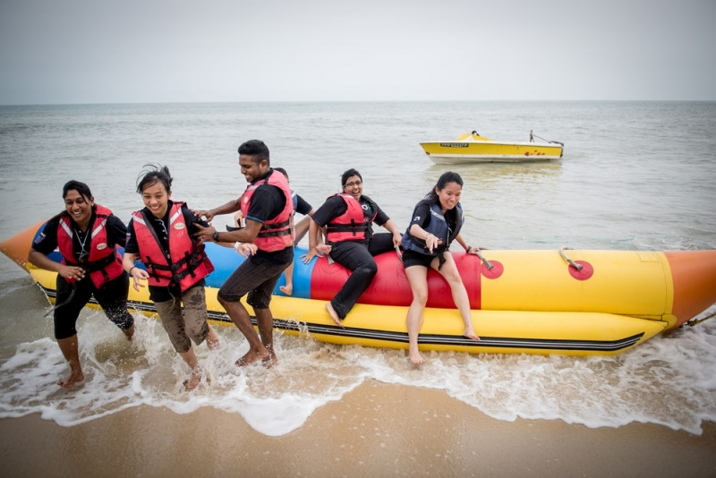 Batu Ferringhi Beach Team Building Banana Boat