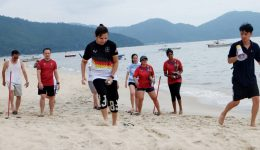 Penang Beach Team Building with Sanofi at Golden Sands Resorts Penang